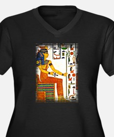 Egyptian goddess of truth and justice Women's Plus Size V-Neck Dark T-Shirt