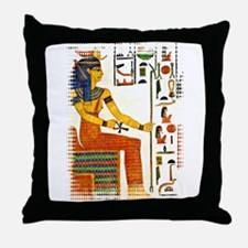 Egyptian goddess truth justice Throw Pillow