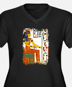 Cute Egyptian goddess of truth and justice Women's Plus Size V-Neck Dark T-Shirt
