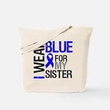 I Wear Blue Sister Tote Bag
