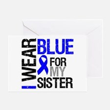 I Wear Blue Sister Greeting Card