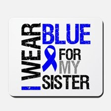 I Wear Blue Sister Mousepad