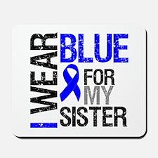 I Wear Blue Sister Mousepad