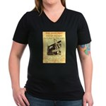Robert Ford Women's V-Neck Dark T-Shirt