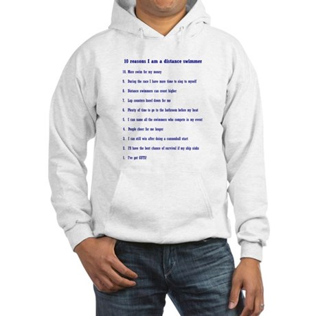 Top ten reasons distance swim Hooded Sweatshirt