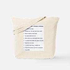 Top ten reasons distance swim Tote Bag