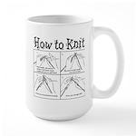 How to Knit Large Mug