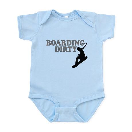 Snowboarding Dirty Infant Bodysuit