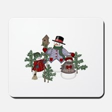 Snowman Family Mousepad