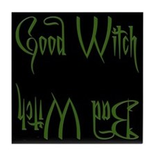 Good Witch/Bad Witch Tile Coaster