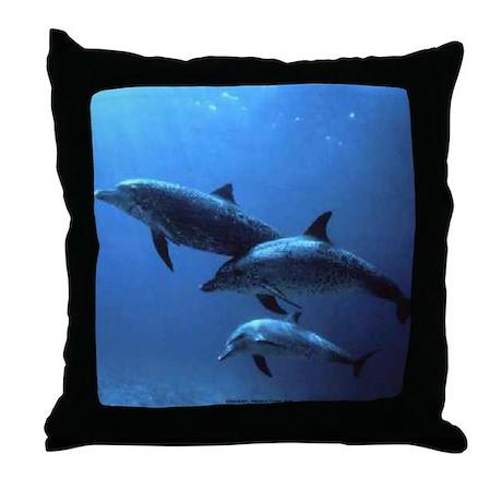 3 DOLFINS Throw Pillow