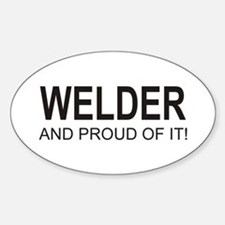 The Proud Welder Oval Decal