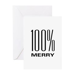 100% Merry Greeting Card