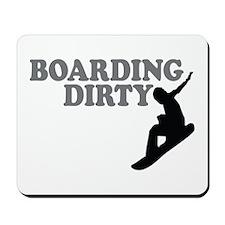 Snowboarding Dirty Mousepad