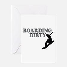 Snowboarding Dirty Greeting Card