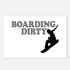 Snowboarding Dirty Postcards (Package of 8)