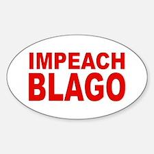 Impeach Blago Oval Decal