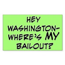 Hey Washington Bumper Rectangle Decal