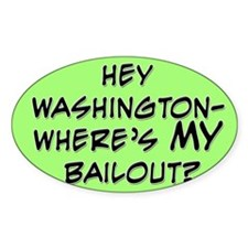 Hey Washington Bumper Oval Decal