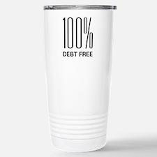 100% Debt Free Travel Mug