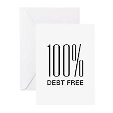 100% Debt Free Greeting Cards (Pk of 20)
