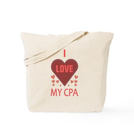 I Love My CPA Tote Bag