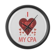 I Love My CPA Large Wall Clock