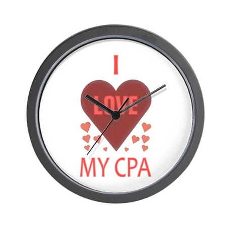 I Love My CPA Wall Clock