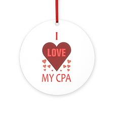 I Love My CPA Ornament (Round)