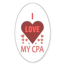 I Love My CPA Oval Decal