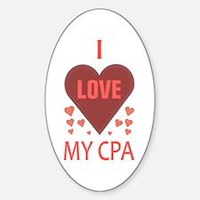 I Love My CPA Oval Sticker (10 pk)