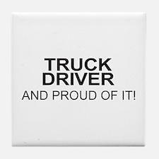 Proud Truck Driver Tile Coaster