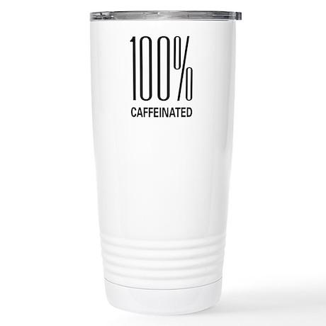 100% Caffeinated Stainless Steel Travel Mug