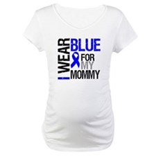 I Wear Blue Mommy Shirt