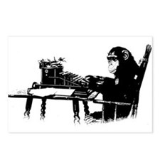 Typing chimpanze Postcards (Package of 8)