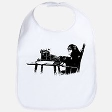 Typing chimpanze Bib