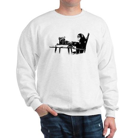 Typing chimpanze Sweatshirt