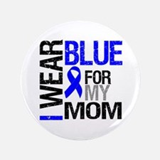 "I Wear Blue Mom 3.5"" Button"