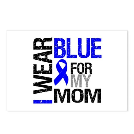I Wear Blue Mom Postcards (Package of 8)