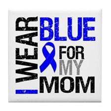 I Wear Blue Mom Tile Coaster