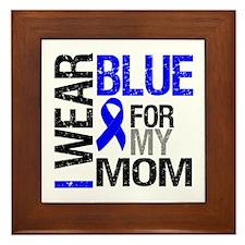 I Wear Blue Mom Framed Tile