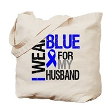 I Wear Blue Husband Tote Bag