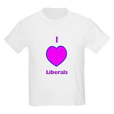 I Love Liberals! Kids T-Shirt