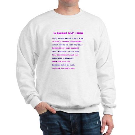 Ten reasons I swim - Female Sweatshirt
