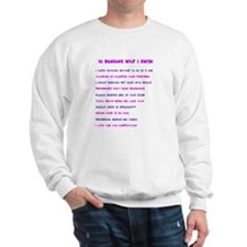 Ten reasons I swim - Female Sweatshirt