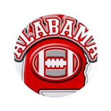 """Alabama Football 3.5"""" Button"""