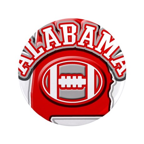 "Alabama Football 3.5"" Button"