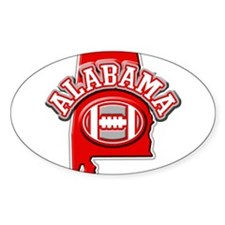 Alabama Football Oval Decal
