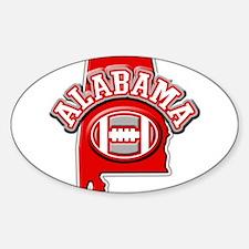 Alabama Football Oval Decal