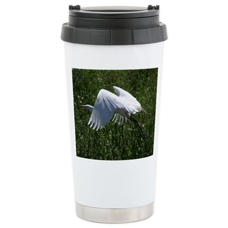 Stainless Steel Travel Mug - Great Egret
